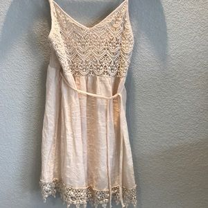 Women's size M cream Dress